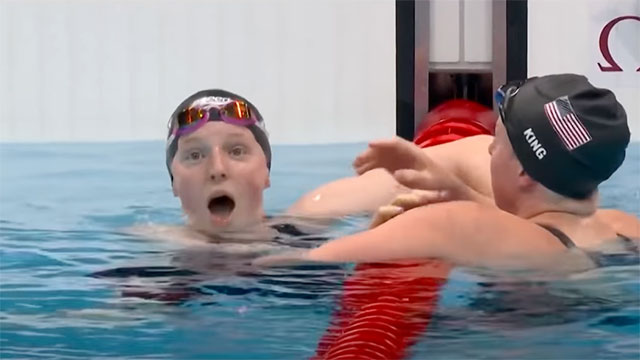 Lydia Jacoby wins the first gold medal in swimming for Team USA in surprise upset