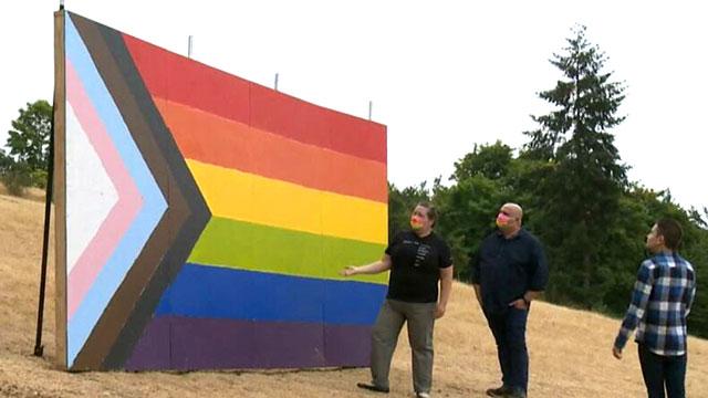 Oregon Pride flag