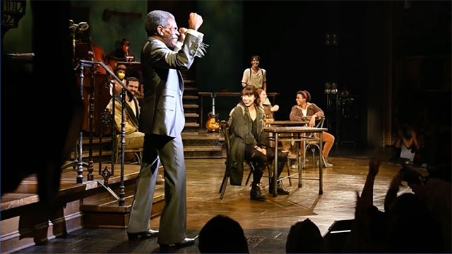 Andre De Shields and the company of Hadestown returned to Broadway