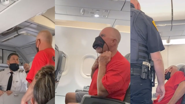 A wild unruly flier was yelling, gnashing his teeth and growling at flight attendants during an American Airlines flight from Los Angeles to Salt Lake City