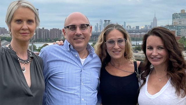 Willie Garson with his 'Sex and the City' co-stars