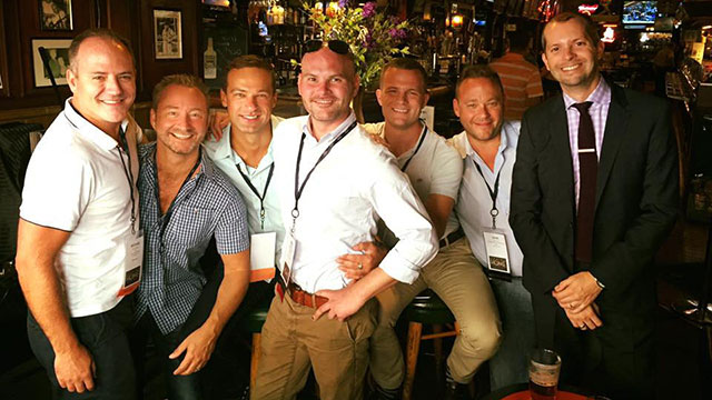 With my NLGJA crew at a gay bar in Chicago