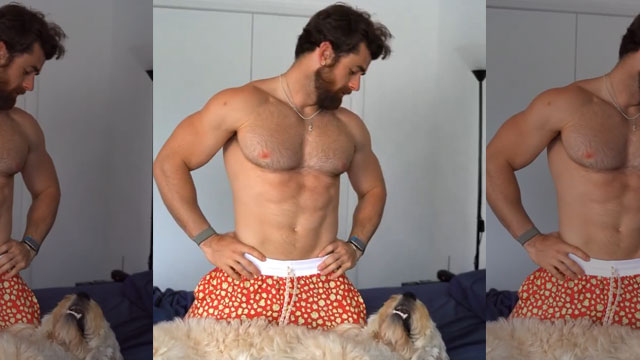 InstaHunk Round-Up starting with Nathan McCallum starting the day with his adorbs doggo