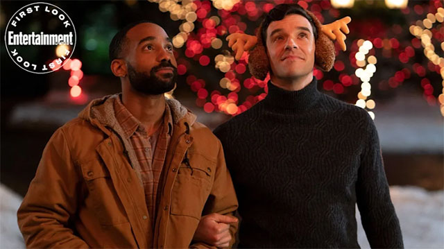 """A still from the Netflix holiday rom-com """"Single All The Way"""""""